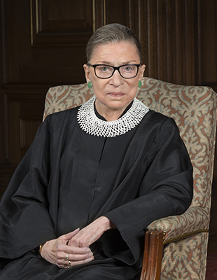 An image of Supreme Court Justice Ruth Bader Ginsburg