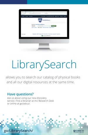 LibrarySearch allows you to search our catalog of physical books and all our digital resources at the same time.