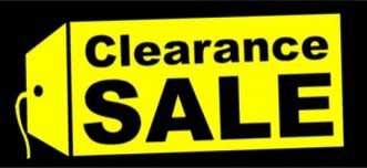 Clearanced Sale