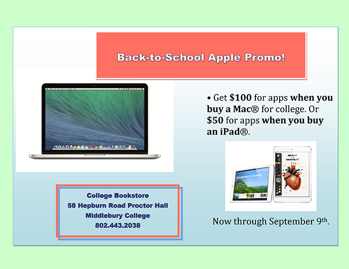 Back-to-School Apple Promotion