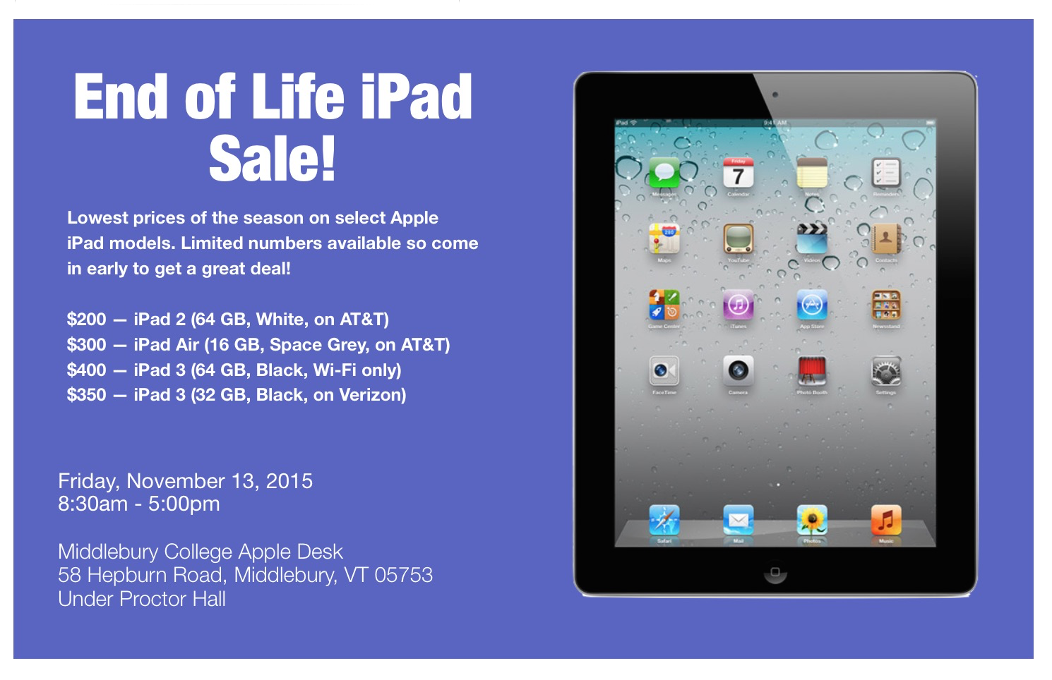 EOL iPad Sale