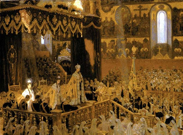 Picture of the Coronation in the Cathedral