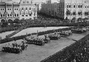 Parade following the Coronation of the Tsar