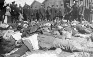Trampled victims at the Khodynka field