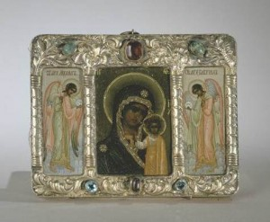 Icon of the Kazan Mother of God, firm of Ivan Khlebnikov