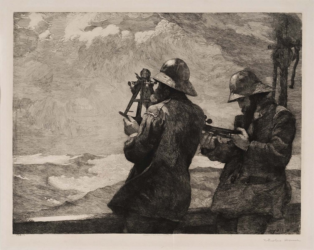 Winslow Homer, Eight Bells, etching