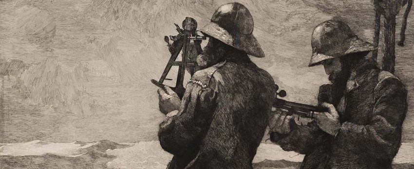 Detail of Winslow Homer's Eight Bells etching
