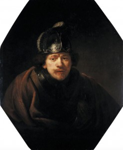 Govaert Flinck, Kassel Portrait of Rembrandt with Helmet