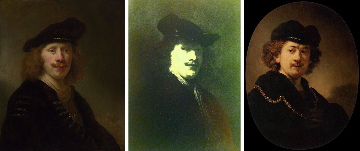 Govaert Flinck, Self-Portrait at age 24, Govaert Flinck, Portrait of Rembrandt, Rembrandt van Rijn, Self-Portrait in Cap