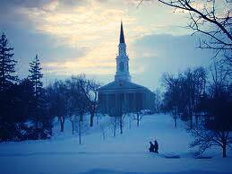 Mead Chapel Winter Scene