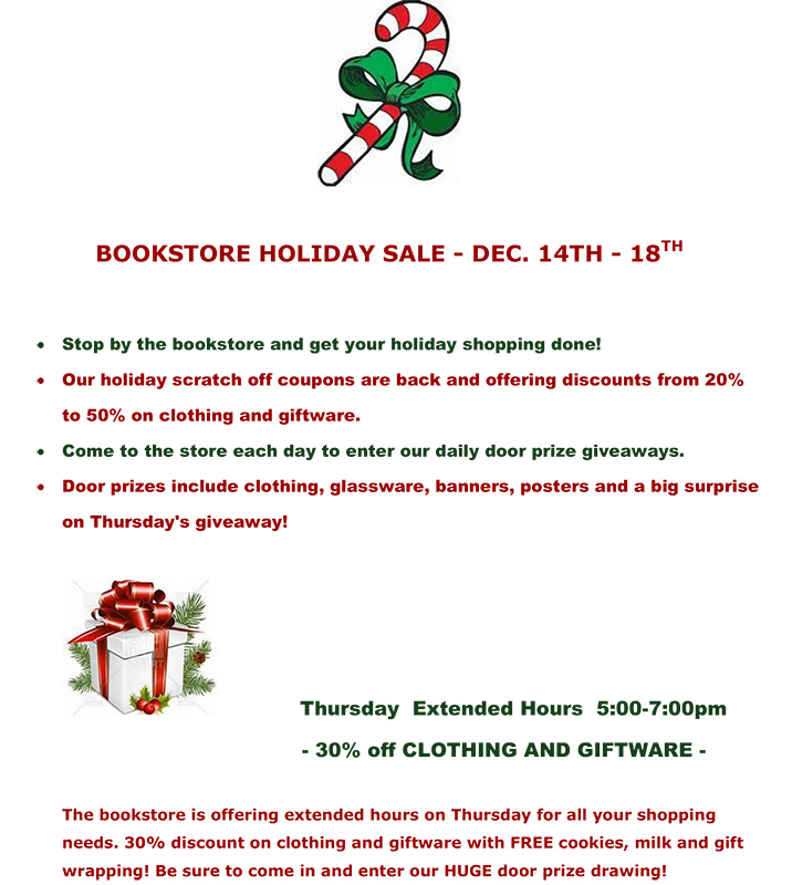 BOOKSTORE HOLIDAY SALE