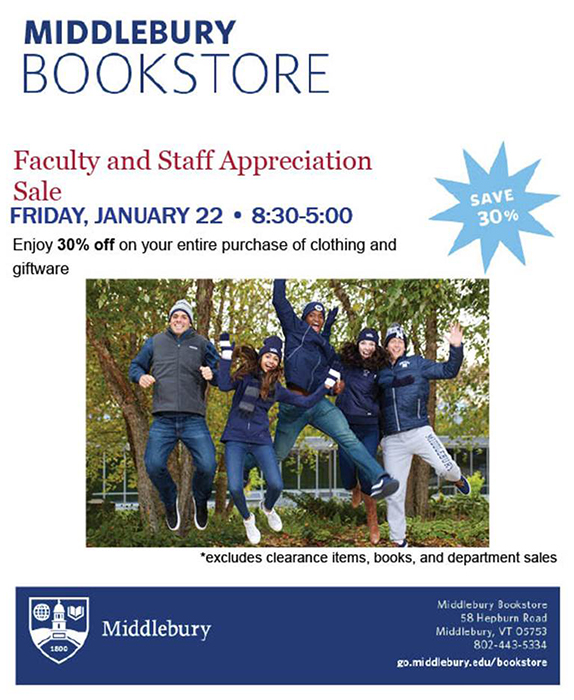 Faculty-Staff Sale