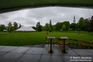 The main lawn at Middlebury College's 2013 Commencement Weekend