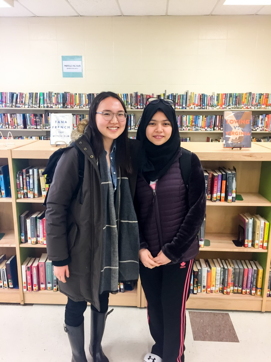 Middlebury College and Winooski High School student pair