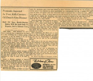 Newspaper clipping sent