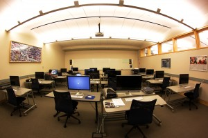 Wilson Media Lab in the Davis Family Library. Home to the Digital Media Tutor program.