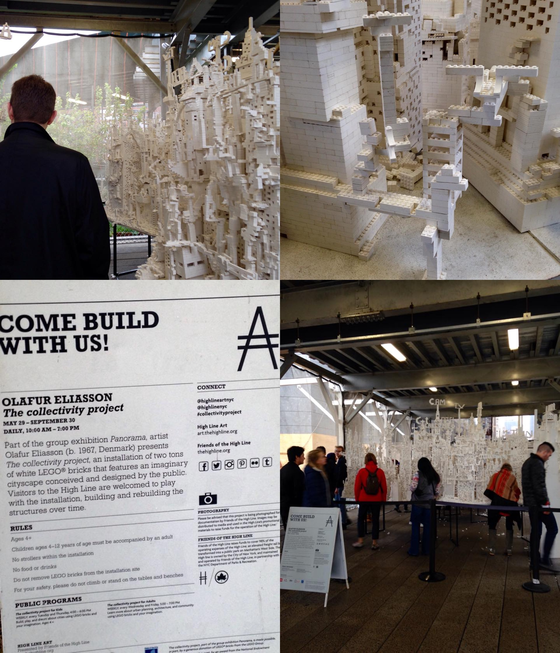 The Collectivity Project by Olafur Eliasson & public NY Highline 2015