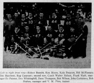 The 1951 Kaleidoscope named Prescott to Middlebury hockey's All-Time All-Stars.