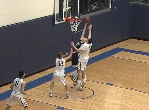 Ithaca beat the once top-ranked Rochester on this buzzer-beater tip-in by Eli Maravich last Saturday