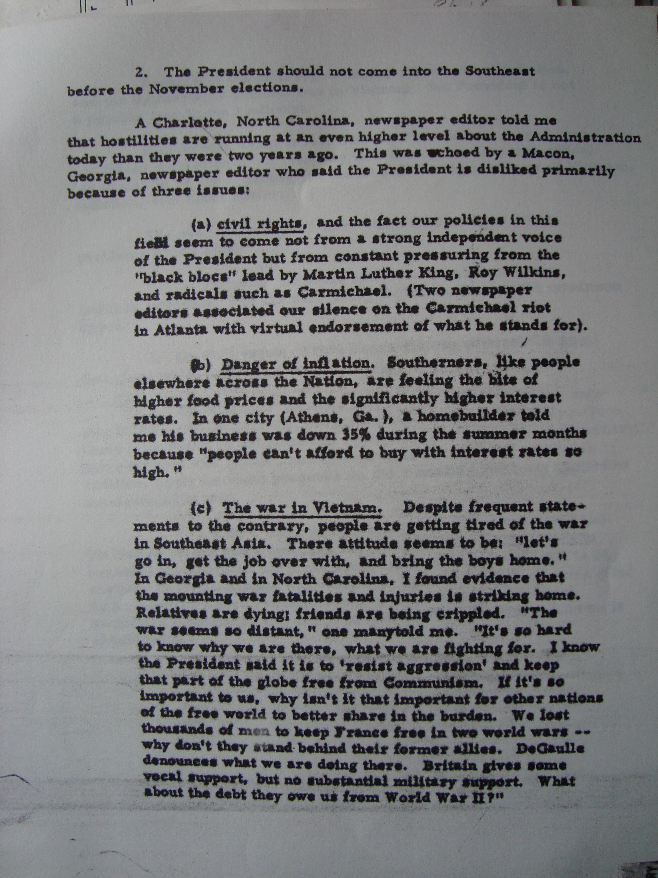 LBJ Johnson memo 2