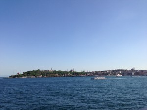 A view of the Golden Horn in Istanbul, the peninsula filled with historic sites like the Hagia Sofia and the Blue Mosque.
