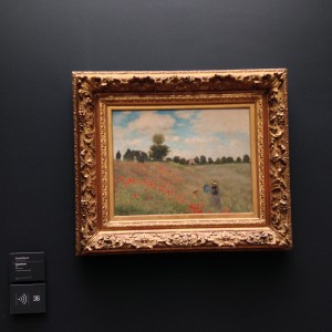 """Poppy Field,"" 1873, by Claude Monet is in the Musée d'Orsay and was one of my favorite pieces that I saw there during my recent visit."