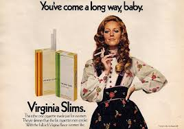 1968 Virginia Slims Cigarette Advertisement