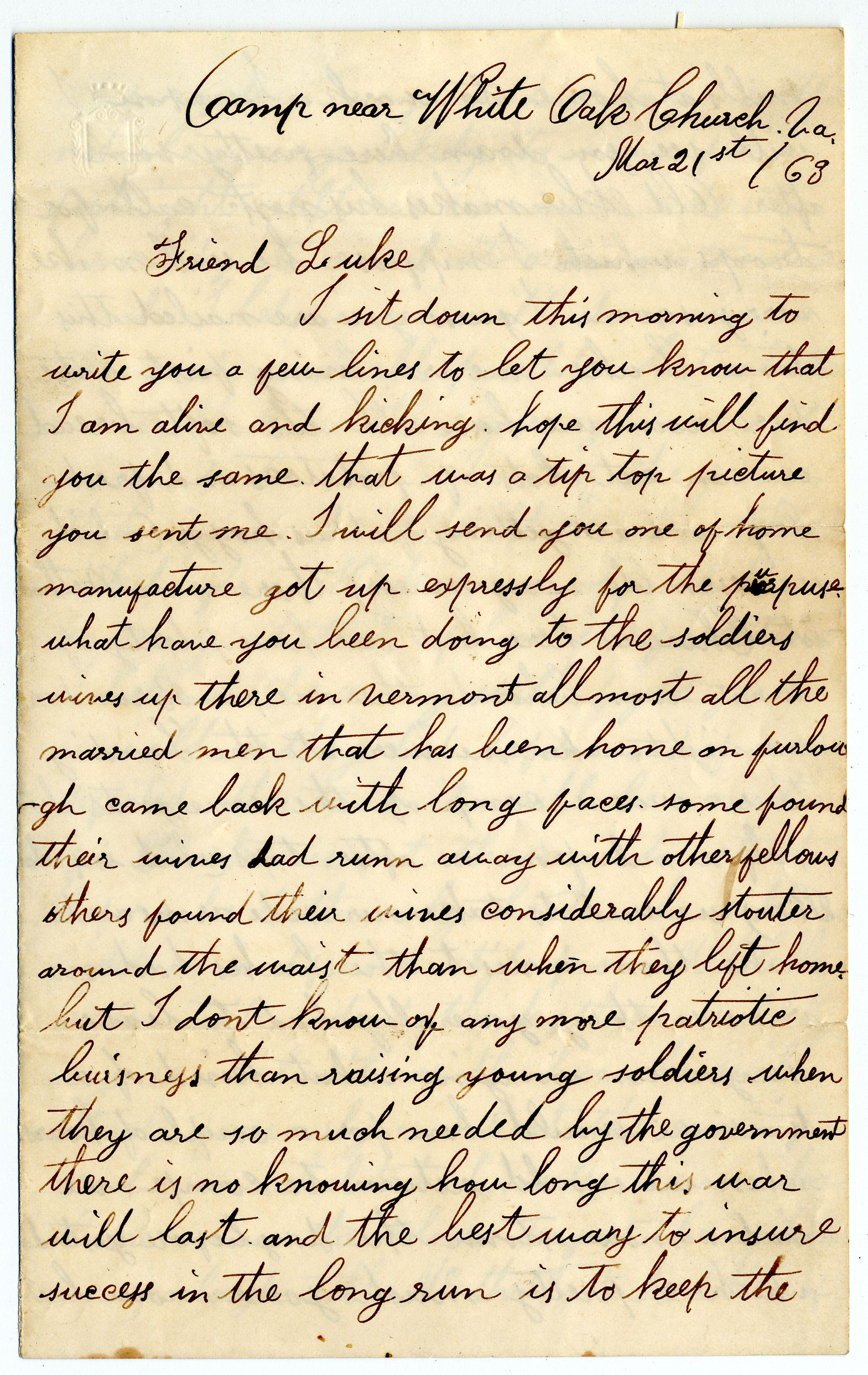 Civil War Letters From The Middlebury College Archives Featured On