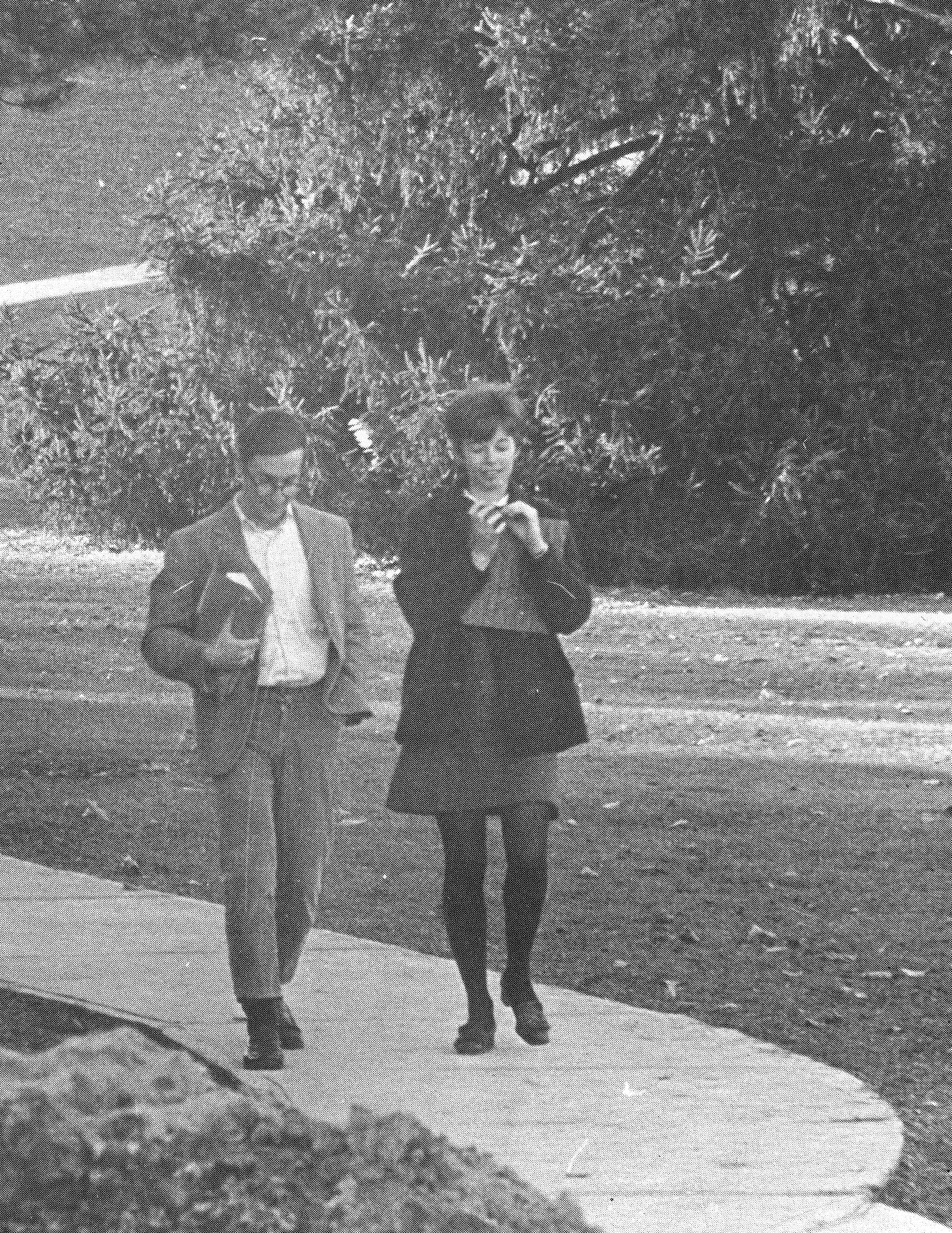 Heading to class, 1969