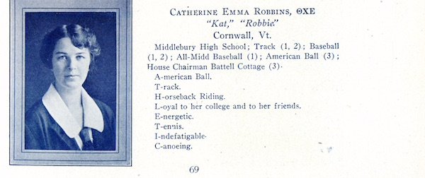 Catherine Robbins yearbook