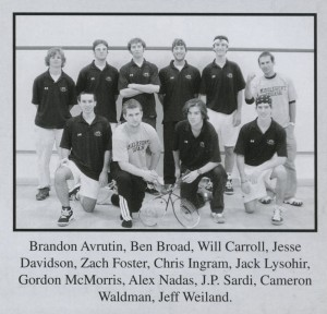 Men's Club Squash Team 2006 (Kaleidoscope 2006, page 139).