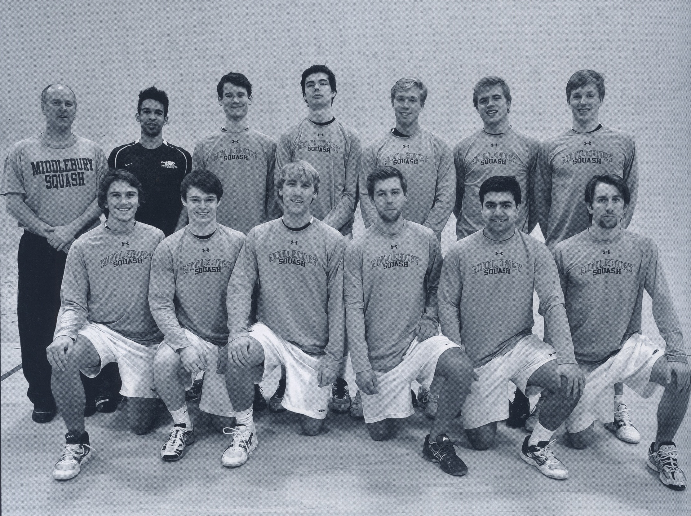 2012 Men's Squash Team, photographed in the Kaleidoscope