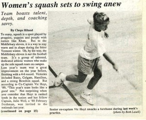 An article and photo from the Middlebury Campus on November 18th, 1988 (page 13).