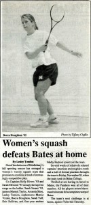 An article noting one of several wins that season (Middlebury Campus, Dec 3, 1992, page 19).