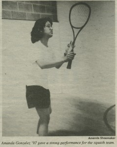 One of the players on court from the Middlebury Campus (January 26, 1995, page 24).