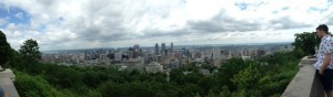 The view at the top of Mont Royal.