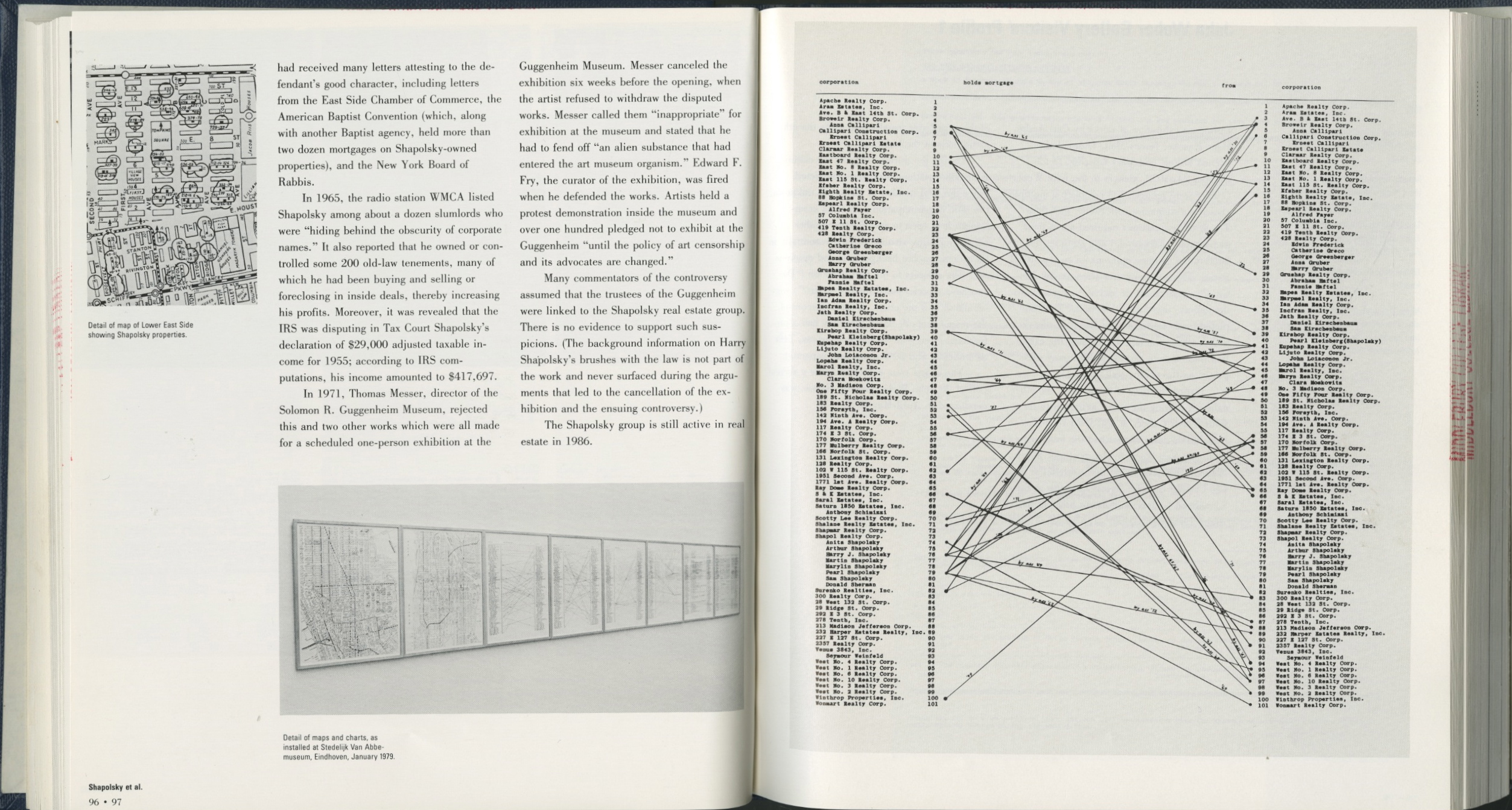 The works of the conceptual artist hans haacke