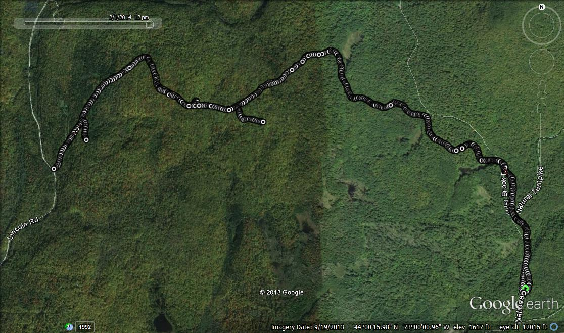 Google Earth of the Route