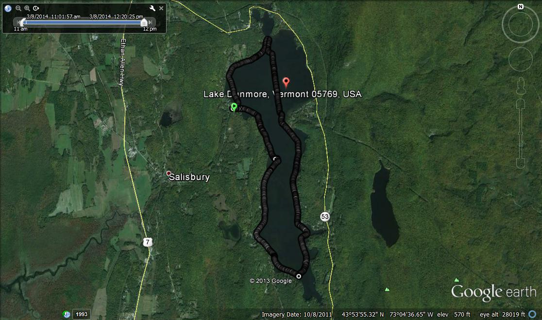 Google of Lake Dunmore Ice Run