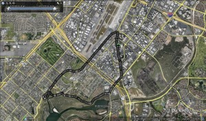 Google Earth of Orange County run