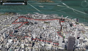 Google Earth of San Francisco Run