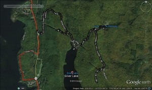The run, in Google Earth