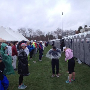 Never enough porta-potties