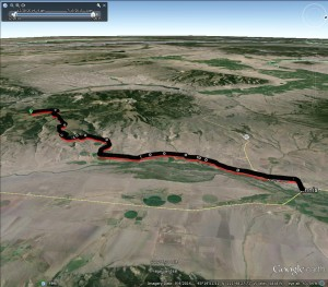 Google Earth of Big Sky Marathon, Looking West