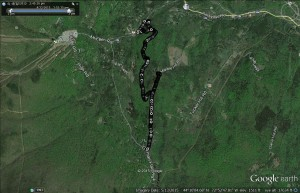 Google Earth of the run