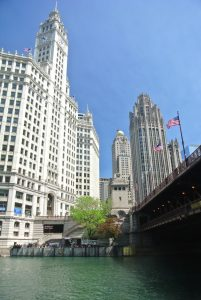Chicago River and Wrigley Building