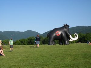 The mammoth inflatable mammoth
