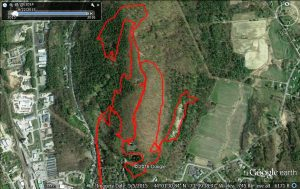Google Earth of Chipman Hill Run