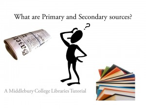 What are Primary and Secondary sources icon slide