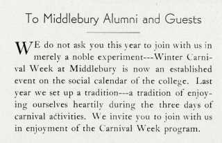 Winter Carnival Program- 1935 page 2